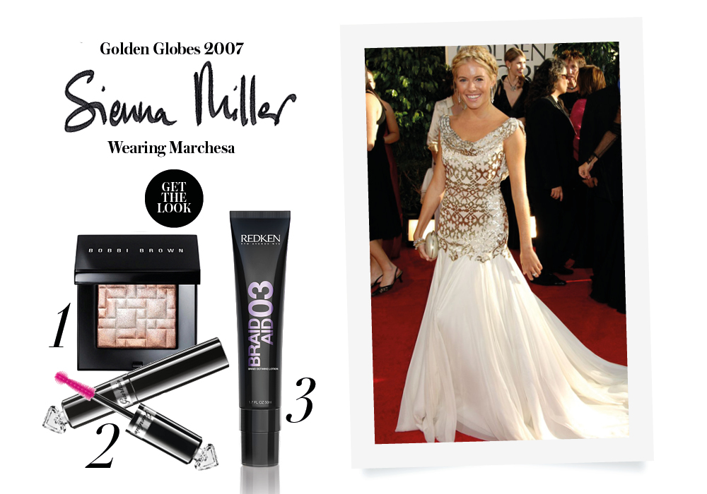 red carpet golden globes sienna miller