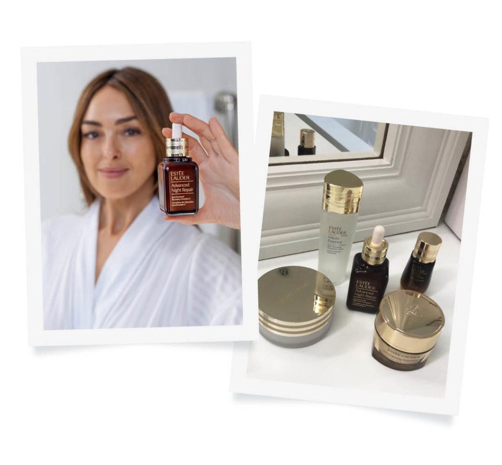 Estee lauder advanced night repair evening skincare routine