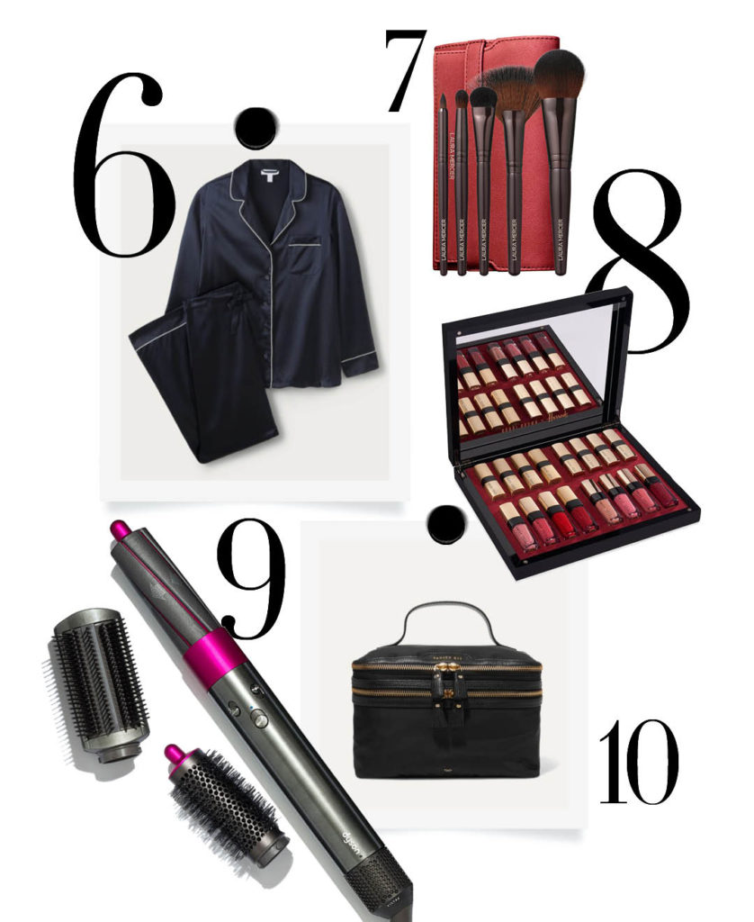 Luxury christmas gift guide silk pyjamas styling tools bobbie brown lipstick