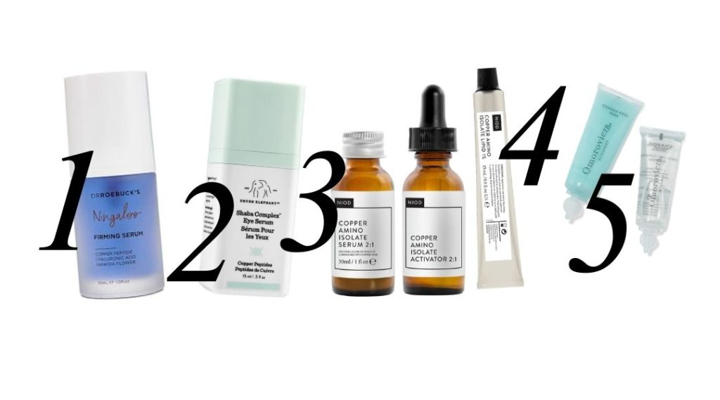 the alex edit top 5 copper peptide skincare products